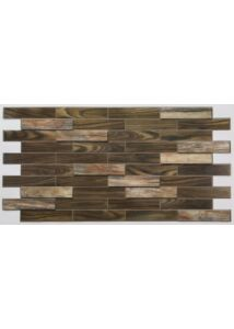 Wood Bars Maon - sötét famintás PVC falpanel
