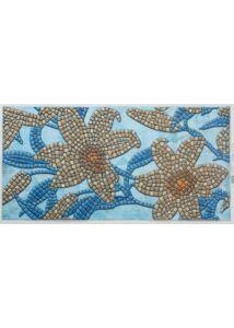 Stone Flower Blue - Kővirág PVC falpanel